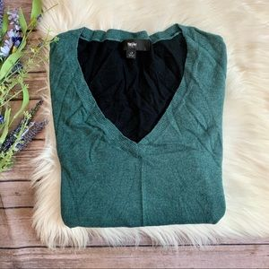 Mossimo | Two Tone V-Neck Sweater
